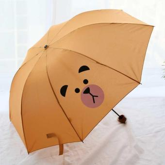 Harga Payung Lipat Mini Umbrella Portable Bear - Coklat