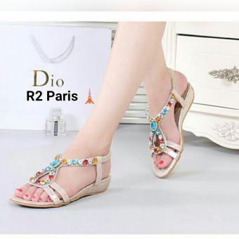 R2 Paris Sepatu Sandal Jarza - Cream