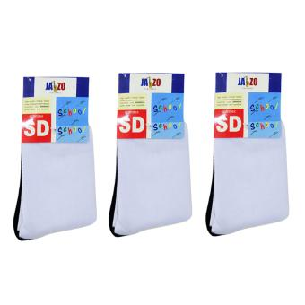 Harga Jazo Italiano - Value Pack - Primary School Socks - Kaos Kaki SD- Dirt Free - Dasar Hitam - Superior Quality - 3 Pair