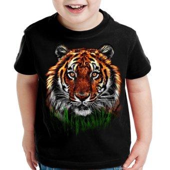 Bawara -T-Shirt Anak Pria - Harimau - Hitam