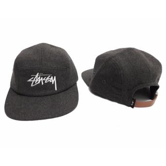Harga Stussy Stock Wool Camp Cap Grey