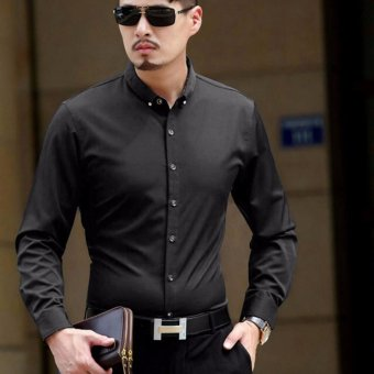 Harga ACE Fashion Men Shirt Andre - (Black)