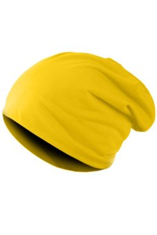 SuperCart Unisex Hip-hop Beanie Hat (Yellow)