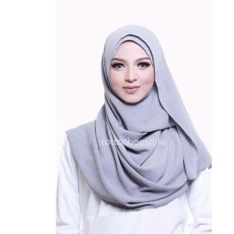 Harga Cotton Bee Pashmina Instant Adelyn - Silver