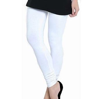 Celana Wanita Legging Polos Putih - Standar dan Jumbo
