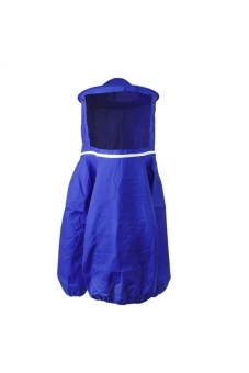 Harga Professional Beekeeping Suit Jacket Coat Pull Over Bee Protective Suit Clothing Smock with Veil - Free Size Blue