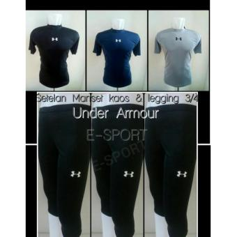 Harga Baselayer short & manset celana 3/4 Under Armour
