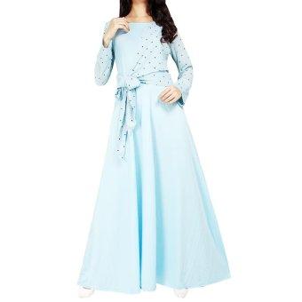 Ofashion Pakaian Muslim AX-5051 Gamis Dokalyn Bubble Gaun Lebaran Muslimah - Biru