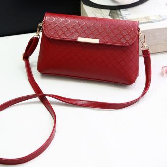Fashion Women Small Tote Bag Shoulder Bag PU Leather Handbag Crossbody Messenger Bag (Red)