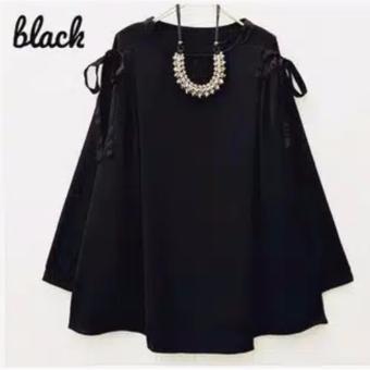 Harga Aquinn Labelle - Blouse Ryu Top (Black)