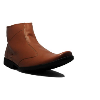 Harga D-Island Shoes Formal Top High Slip On Leather Cokelat