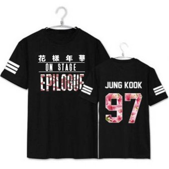 Harga ALIPOP KPOP BTS YOUNG FOREVER EPILOGUE Album JUNGKOOK Shirts K-POP Casual Cotton Clothes Tshirt T Shirt Short Sleeve Tops T-shirt DX249 (Black) - intl
