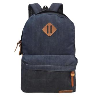 Harga Bag & Stuff Denim Respect Backpack Plain - Biru