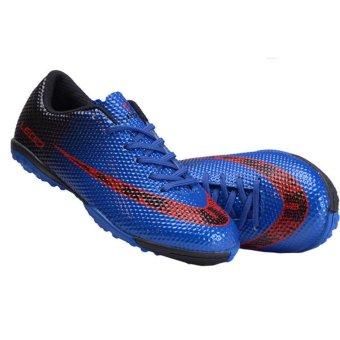 Children Football Shoes Boots Unisex Soccer Boot Football Boots Indoor Football Shoes Train Sneakers (Blue