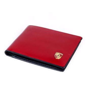 Harga BRANDED DOMPET WALLET BIFOLD PRIA CASUAL PORSCHE P-928 - RED