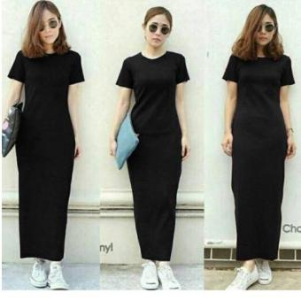 Harga Labelledesign Elsa Plain Maxy - Black