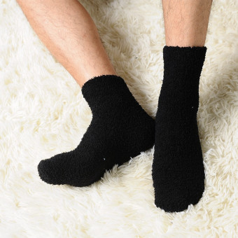 Harga 6 pairs Men Warm Winter Fuzzy Bed Socks Cool Pure Fluffy Thick Soft Floor Home Hosiery - intl