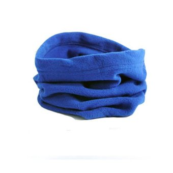 Harga Okdeals 4 in1 Thermal Fleece Scarfs Snood Neck Warmer Face Mask Beanie Hat Blue