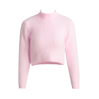 Harga Women Knitted Fluffy Sweater Jumper Crop Top Turtle Neck Long Sleeve Mohair Slim Pullover Knitwear - intl