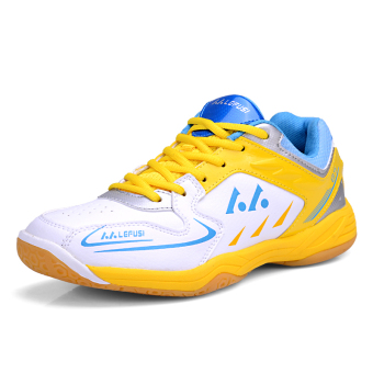 YAER Unisex Men's Badminton Shoe-Yellow- Intl