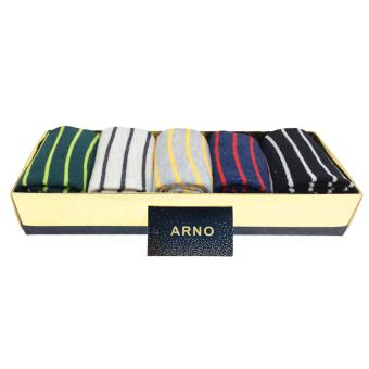 Harga ARNO Soft Cotton Men Sports Socks Set Of 5 Pairs