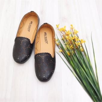 Grey Terbaru Source · KelinciMadu Laser Slip Flatshoes Black .