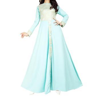 Ofashion Pakaian Muslim AX-5046 Gamis Nayafa Glitter Gaun Lebaran Muslimah - Tosca