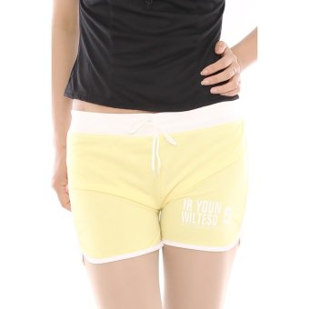 Harga Hang-Qiao Women Sports Beach Shorts Casual Hot Pants (Yellow)