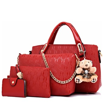 Harga Amour Fashion Bag Best Seller Tas Import Wanita 4 in 1 - Merah