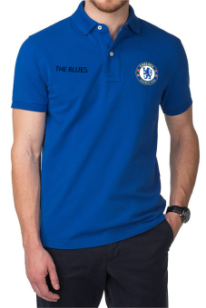 Harga QuincyLabel Polo Soccer Shirt The Blues chelsea-Blue