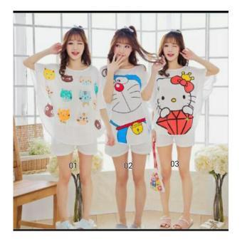 SB Collection Stelan Baju Tidur Keyko Piyama-02 Putih