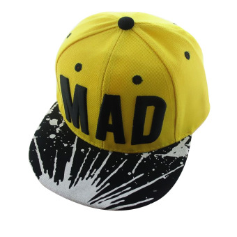 Harga PAlight Fashion Kids Baseball Caps Hip Hop Cap (Black&Yellow)