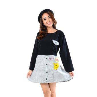 Ayako Fashion Dress Pika - AY(Black-White)