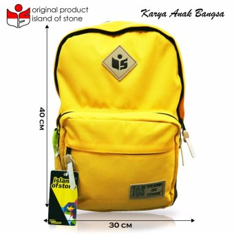 Harga Intristore Tas Pria Backpack Island of Stone Yellow - 3