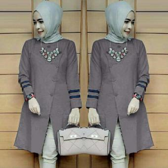 Harga Ace Fashion Tunic Long Sleeve Alexa (Grey)