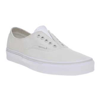 Harga Vans Leather Canvas Authentic Gore Sneakers - Bone White/True White
