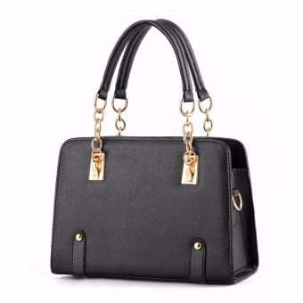 Harga Tas Fashion Wanita Woman Branded Pu Leather Handbags Import Korean And Japanese Ladies Style - Black