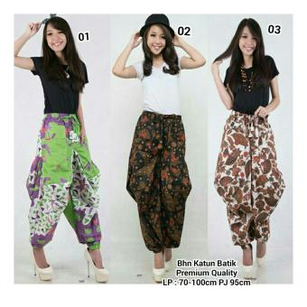 Harga SB Collection Celana Aladin Batik Icha Long Pant-Hitam