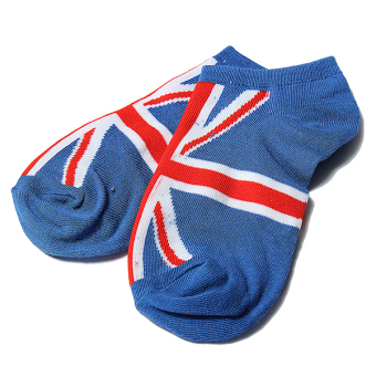 Harga Men Women National Flag Ankle Low Cut Casual Cotton Socks Sport Boat Invisible England
