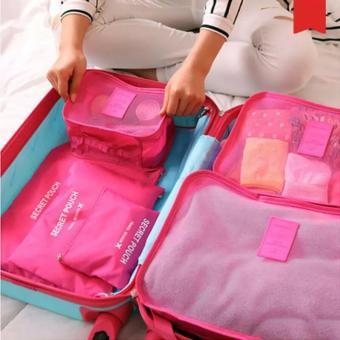 Sakura Travelling Organiser 6in1 Biru Muda Ezyhero Source Organizer Travelling Bags IMPORT Six .