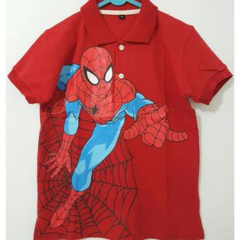 Harga Polo Shirt Spiderman Red