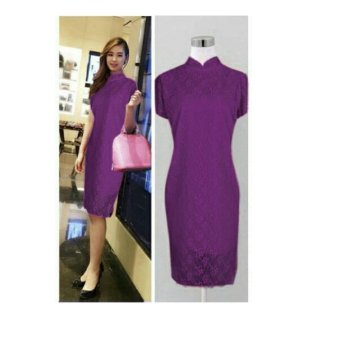 Harga SB Collection Popiana Dress-Ungu