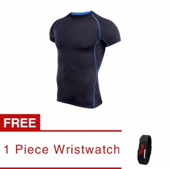 Harga Jiayiqi Mens Exercise Sports T-shirts Fashion Under Armour Short Sleeve Crew Neck Tee (buy 1 get 1 freebie) - intl