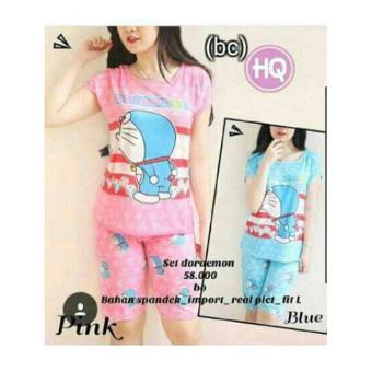 SB Collection Stelan Baju Tidur Happy Piyama-Pink