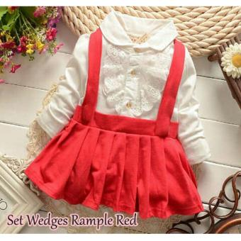 Harga MJ Overal Dress Wedges Rample Kids - Merah