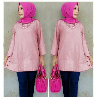 Harga Grateful Blouse Zoya - Dusty Pink