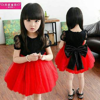 Harga MJ Dress Anak Sansan Kids - Merah