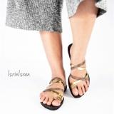 Isrin Isran Sandal Python - Gold - 3