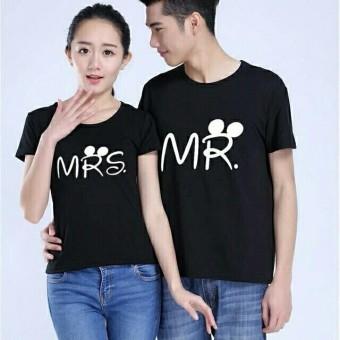 Jakarta Couple - Kaos Couple Mr MRs Hitam / Kaos Terbaru / Baju Kapel Lengan Pendek