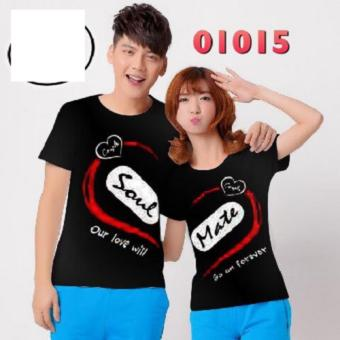 Jakarta Couple - Kaos Couple Soulmaet GNR Black / Kaos Terbaru / Baju Pasangan / Kaos